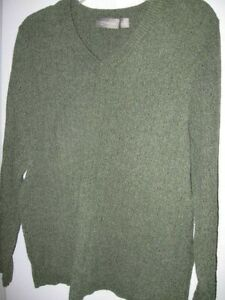 preowned womens charcoal PULLOVER Soft SWEATER 1X Croft & Barrow