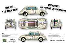 [FFSMC Productions] Decals 1/43 Herbie (The Love Bug)