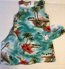 Kole Kole Hawaii Girls Wrap Dress Hawaiian palm Trees size 4
