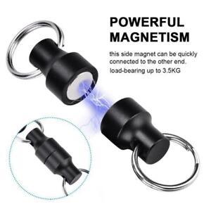 Metal Magnetic Buckle Fly Fishing Landing Carabiner Net Release Holder Tool