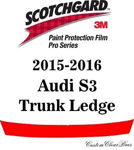 3M Scotchgard Paint Protection Film Pro Series Pre-Cut Clear 2015 2016 Audi S3