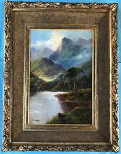 Ölgemälde Landschaft See schottisches Hochland Highlands McTaggart Scotland~1860