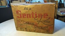 Antique Sentinel 314-W Radio Shipping Box-Great for Display