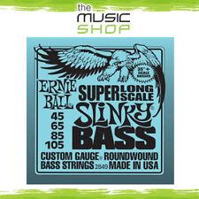 Set Ernie Ball 2849 Super Long Scale Slinky Electric Bass Guitar Strings- 45-105