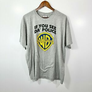 VINTAGE 90s If you See Da Police Warn a Brother T-Shirt Adult Size XL