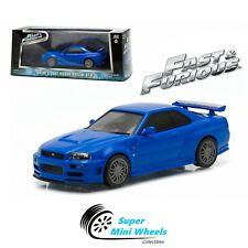 Greenlight 1:43 - Fast & Furious - 2002 Nissan Skyline GT-R (Blue)
