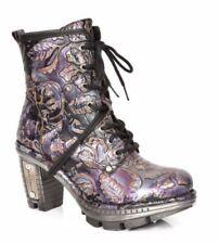 New Rock Block Biker Boots for Women