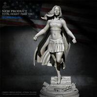 Supergirl Resin Kits Unpainted Figure Model GK Unassembled 75mm