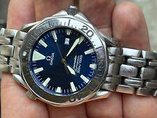 Omega Seamaster 300M Professional LARGE 41mm Blue Waves James Bond Bracelet RUNS