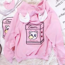 Sweet Kawaii Mori Girl Long Sleeve Sweatshirt Lolita Bear Print Hoodie Coat Tops