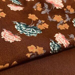 Toffee Brown 2 piece warm Marina floral suit SP281-1 midtex
