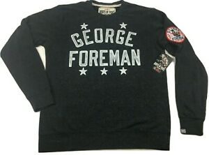 Roots Of Fight George Foreman Pullover Triblend Sweatshirt Men's Large-2XL