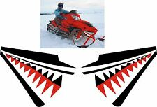 ARCTIC CAT crossfire m6 m8  M F 1000 T660 shark nose cone teeth DECAL STICKER 3