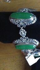 Bracelet - Bali Legacy Artisan Crafted Green Jade Sterling Silver