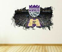 Sacramento Kings NBA Custom Wall Decals 3D Wall Stickers Art JS1631