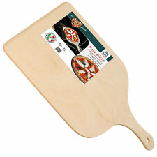 Pala Tagliere Vassoio Per Pizza In Legno Di Betulla 30 x 42 Cm Con Impugnatura