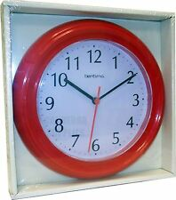 Acctim Wycombe Wall Clock Red