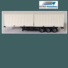 """Herpa Container Auflieger mit 2x 20"""" Container"""