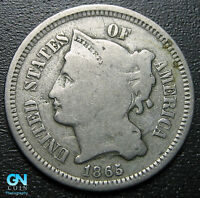 1865 3 Cent Nickel Piece  --  MAKE US AN OFFER!  #G5502