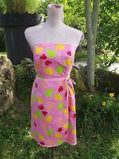 LILLY PULITZER Sz 10 Pink Marzipan Fruits Print Dress Strapless Cotton PRISTINE