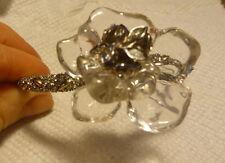 NEW Alexis Bittar Clear Lucite Jardin Mystère Gardenia Bracelet w/ Crystals