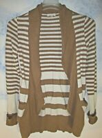 Urban outfitters Silence + Noise Striped Cardigan BROWN IVORY WOMENS SIZE SMALL