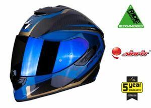 Scorpion EXO 1400 CARBON Airfit Pump Up Cheek Maxvision Pinlock Motorbike Helmet
