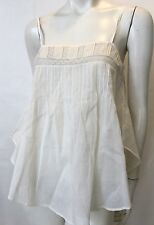Mes Desmoiselles white lace camisole top blouse cotton $158 FR 38 Small 6 NWT