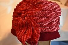 Vintage Conrad & Chandler Ladies Hat Red Velvet Union Label