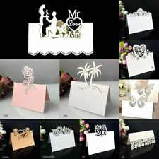 Place Wedding Table Cards Name Birthday Party Decors Laser Cut Hollow Patterns
