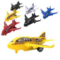 Plastic Air Bus Model Kids Children Pull Back Airliner Passenger Plane Toy GD