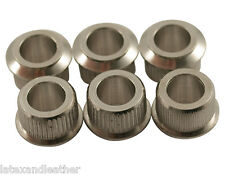 "Kluson Tuner Nickel adapter bushings 1/4"" to 10.5mm fits Fender wide flange"