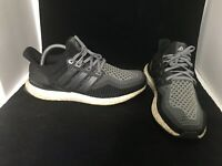 SZ 9.5 Mens Adidas Ultra Boost 2.0 Running Shoes Black Grey AQ4004 NMD 350 700