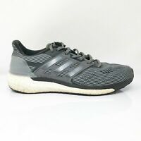 Adidas Mens Supernova BB3477 Gray Black Running Shoes Lace Up Low Top Size 9.5