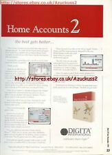 "Home Accounts 2 ""Digita International"" 1991 Magazine Advert #5616"