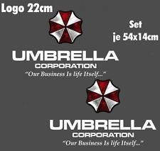 Resident Evil Umbrella Corporation Sticker Auto Aufkleber SET Car silber weiß 55