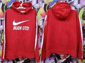 Manchester United FC Football Soccer Longsleeve Sweatshirt Hoodie Nike Mens 2XL