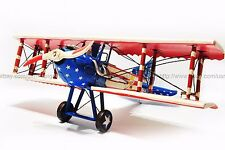 Handmade 1916 American flag SPAD 7 Aircraft 1:12 Antique Style Metal Model