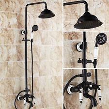 Bathroom Black Luxury Shower faucet set  black antique drawing copper shower