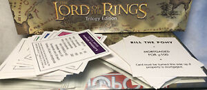 2003 LORD OF THE RINGS MONOPOLY ORIGINAL PARTS: LARGE GAME CARDS LOT/ PRE OWNED
