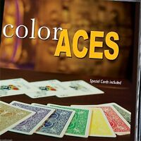 Color Aces Magic Trick - Bicycle Backs - US Seller