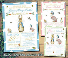 10 Personalised Christening Invitations Baptism Naming Cute Invites Peter Rabbit