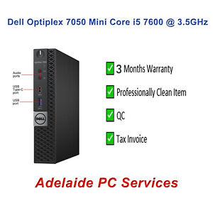 Dell Optiplex 7050 Micro Intel Core i5 7600 PC 8GB Ram 256GB SSD NVMe Win 10