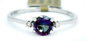 MYSTIC TOPAZ  1.15 Cts & DIAMONDS RING 10K WHITE GOLD ** NWT ** MADE IN USA*
