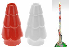 Christmas Candle Holder with 2 Candles Dripping Candles Ceramic Candle Holder