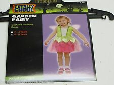 NWT Totally Ghoul Garden Fairy Dress Halloween Costume Toddlers 4-6 Years