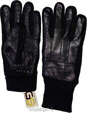 Men's Gloves, leather/knit gloves (L) Winter gloves lined leather warm gloves BN