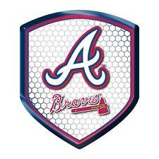 Atlanta Braves High Intensity Shield Reflector Emblem Decal Auto Home Baseball