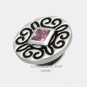 Authentic Kameleon Sterling Silver Pink Ice Jewelpop KJP389  *RETIRED*