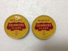 MURRAY'S ERINMORE FLAKE Pineapple Logo Pipe Tobacco Tin Container x 2pcs  #2